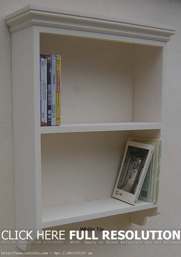 Painted Pine Wall Unit Shelf With Open