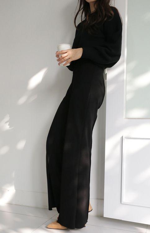sleek in all black jumpsuit | curated by ajaedmond.com/