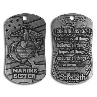 Amazon.com: Marine Sister Dog Tag Necklace: Clothing