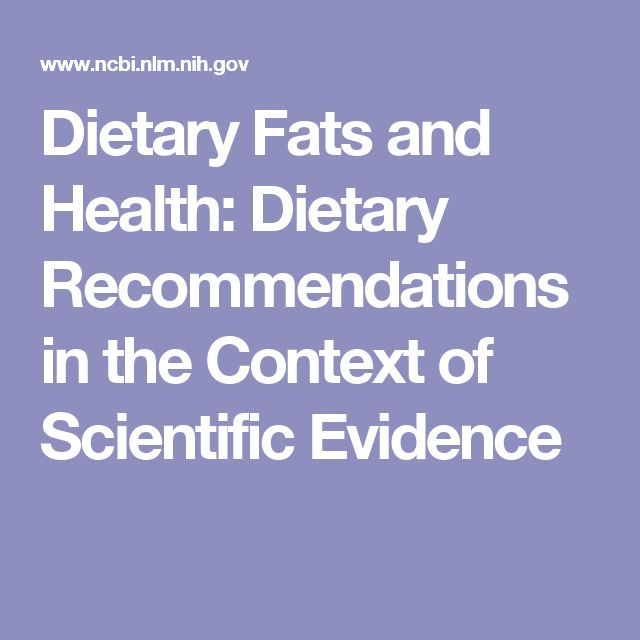 Dietary Fats and Health: Dietary Recommendations in the Context of Scientific Evidence