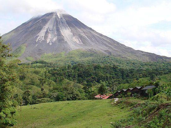 The side of Arenal volcano towards Tabacon, La Fortuna de San Carlos, Costa Rica.