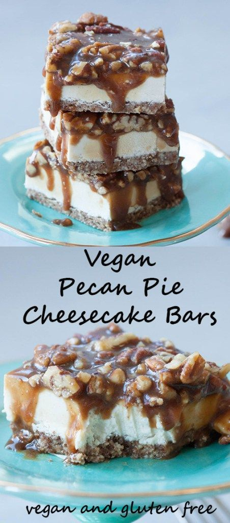 A delicious twist on a classic fav these Vegan Pecan Pie Cheesecake Bars are perfect for the holidays!