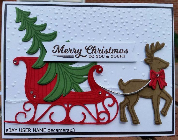 "CHRISTMAS HANDMADE CARD KIT, STAMPIN' UP ""SANTA'S SLEIGH""  #HandmadeStampinUp…"