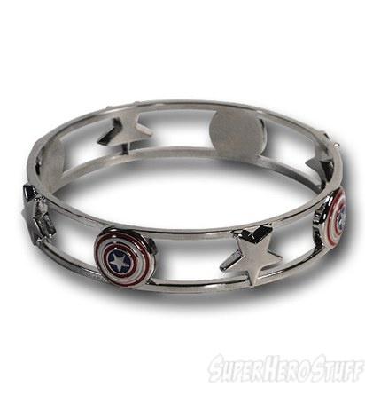 Captain America Shield & Stars Bracelet $36.99