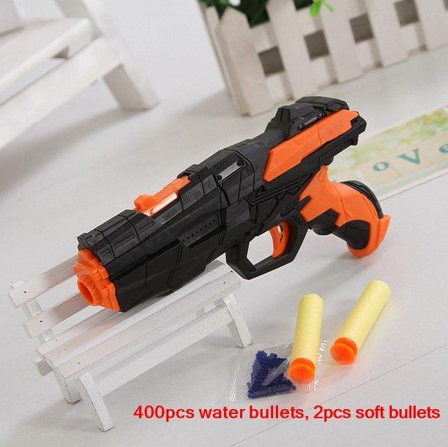 Die neueste weiche kugel pistole wasserpistole spielzeug EVA kugel + wasser bombe dual-zweck pistole platzt der kristall spielzeug schießen