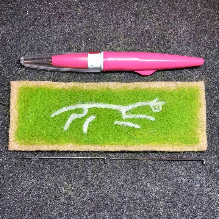 "21 Likes, 5 Comments - Happy Savage Studio (@happysavagestudio) on Instagram: ""Chalk horse #ahatfulofsky #needlefelt #flatfelting #makingwinter"""