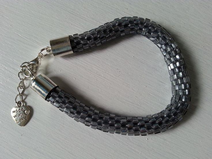 bransoletka na szydełku z koralików, crochet brancelet with beads