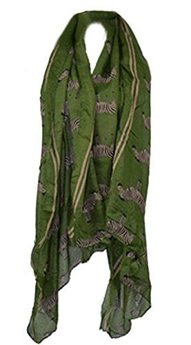 6e2579a042b Demarkt Foulard Écharpe de Femme Dessin de zèbre en Filé de Coton Taille   18080cm