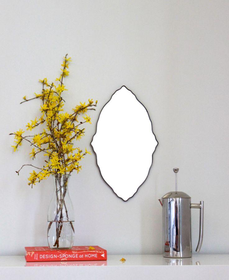 Oval Scalloped Mirror Handmade Wall Mirror Ornate Organic Frameless Wall Mirror Miroir by fluxglass on Etsy https://www.etsy.com/listing/128446445/oval-scalloped-mirror-handmade-wall