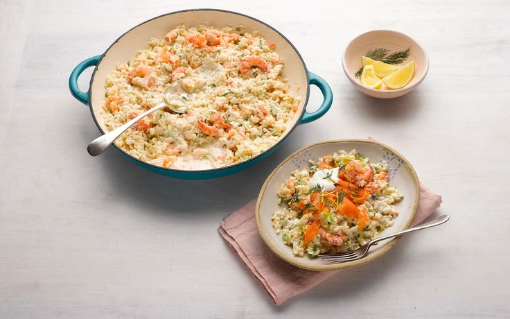 For a simple supper whipped up in minutes, this smoked salmon risotto using Philadelphia Light is just the thing to serve, says Lorraine Pascale.