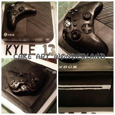 The Xbox One themed cake was made from chocolate mudcake. The controller is fully edible as well. Happy 13th Birthday Kyle. Hope you had a great day :-)