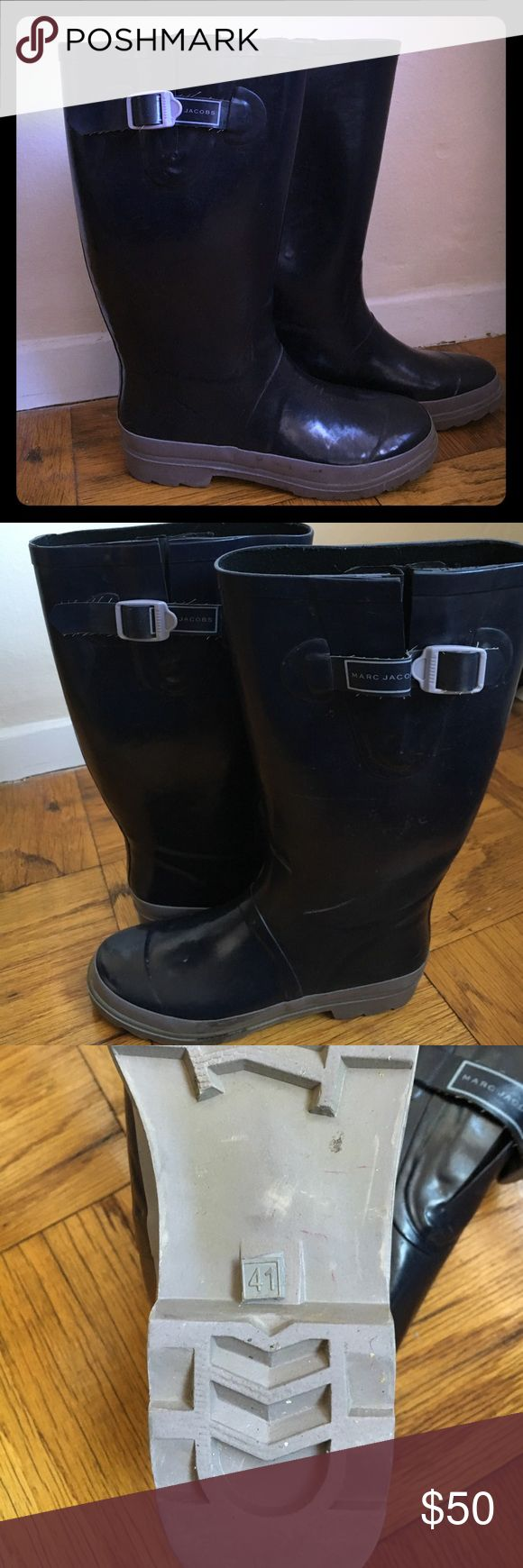 Marc Jacobs rain boots Heavy rubber, dark purple with light purple base, very durable, lightly worn Marc Jacobs Shoes Winter & Rain Boots