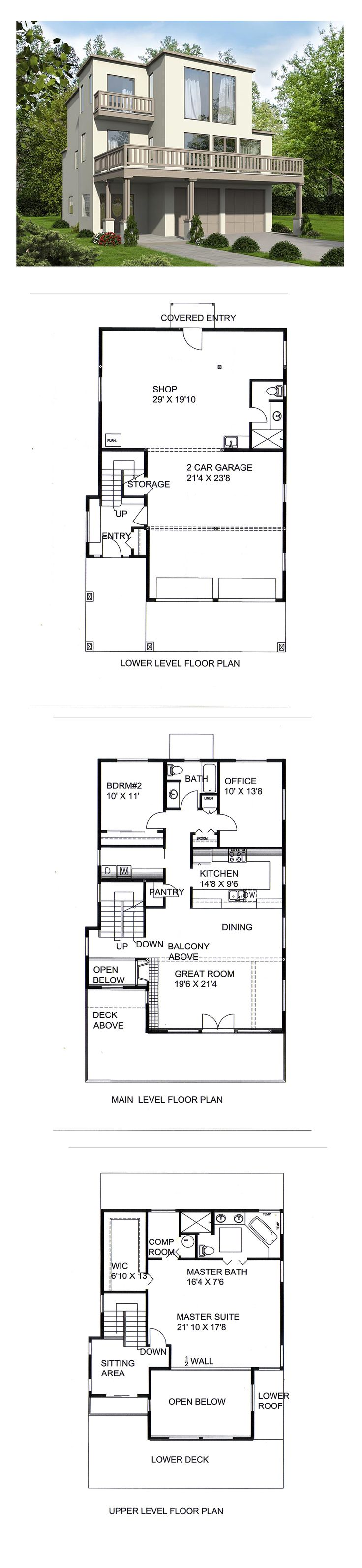 New House Plan 85258 | Total Living Area: 2231 sq. ft., 2 bedrooms and 2 bathrooms. #newhouseplan