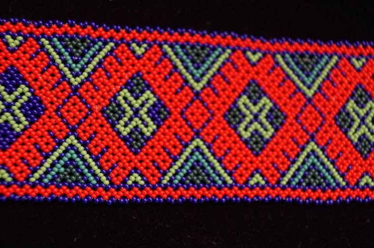 Huichol Bracelet Beaded Multicolor Peyote Mexican Folk Art Mexico Hippy Culture | eBay