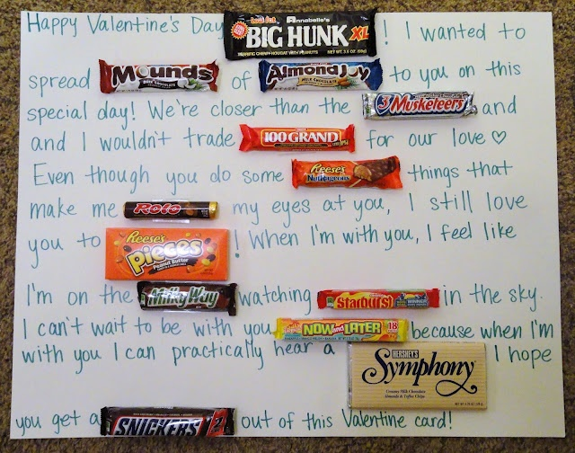 12 best Valentine ideas images – Candy Valentine Card