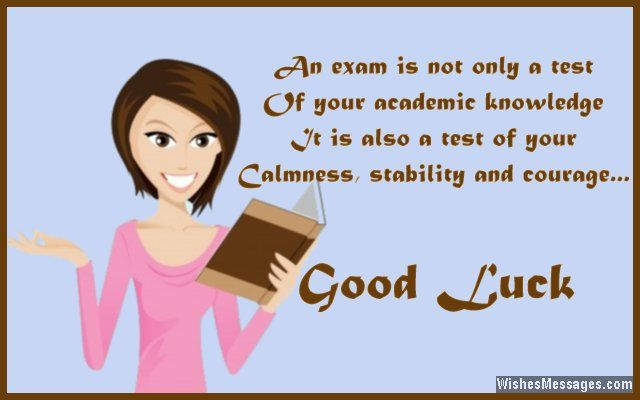 Best wishes for students giving an exam
