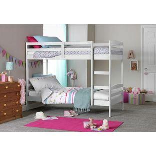 Buy Josie White Shorty Bunk Bed with 2 Elliott Mattresses at Argos.co.uk - Your Online Shop for Children's beds, Children's beds.