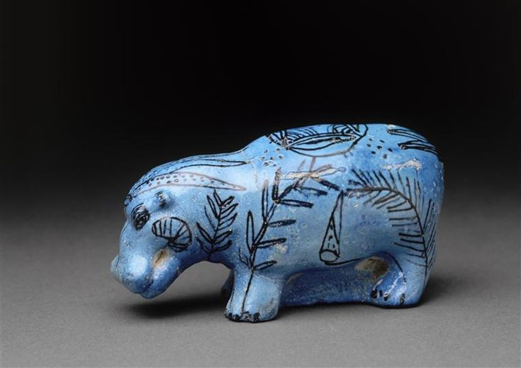 Titre : Hippopotame Description : Trouvé à Aboùl Naga dans la tombe d'un Antef Crédit photographique : (C) RMN-Grand Palais (musée du Louvre...