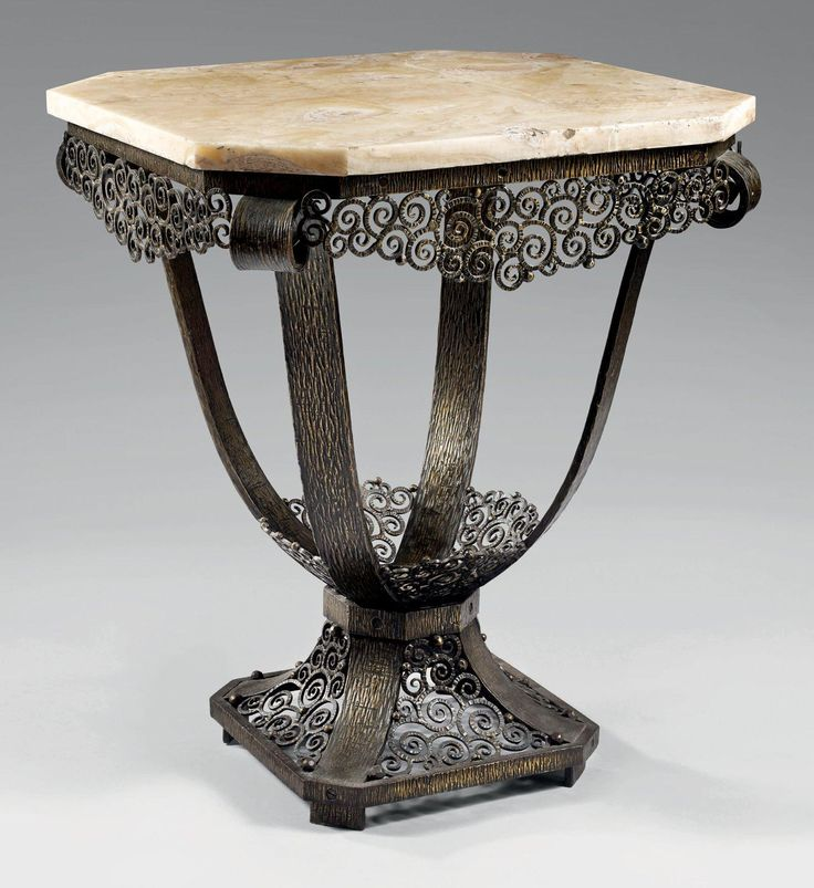 Taccoti paulin petite table d 39 appoint octogonale en fer for Table d appoint fer forge