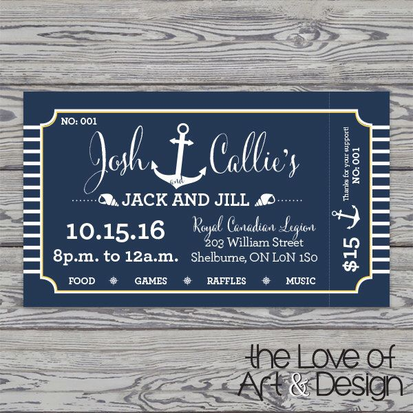 Printed Raffle Buck and Doe Tickets -Jack and Jill Tickets - Stag and Doe Tickets - Nautical by TheLoveOfArtNDesign on Etsy https://www.etsy.com/ca/listing/468295493/printed-raffle-buck-and-doe-tickets-jack