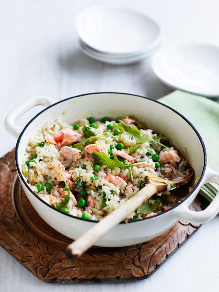 This risotto is easy to prepare and makes for a filling dinner.