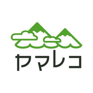 """Japanese logo  登山記録を書き込んだり、共有したりできるWebサービス、ヤマレコのロゴマーク。  山の記録を""""楽し�"""