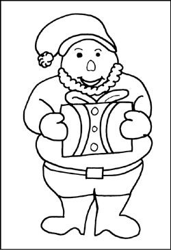Malvorlage Weihnachtsmann Geschenk Malvorlagen