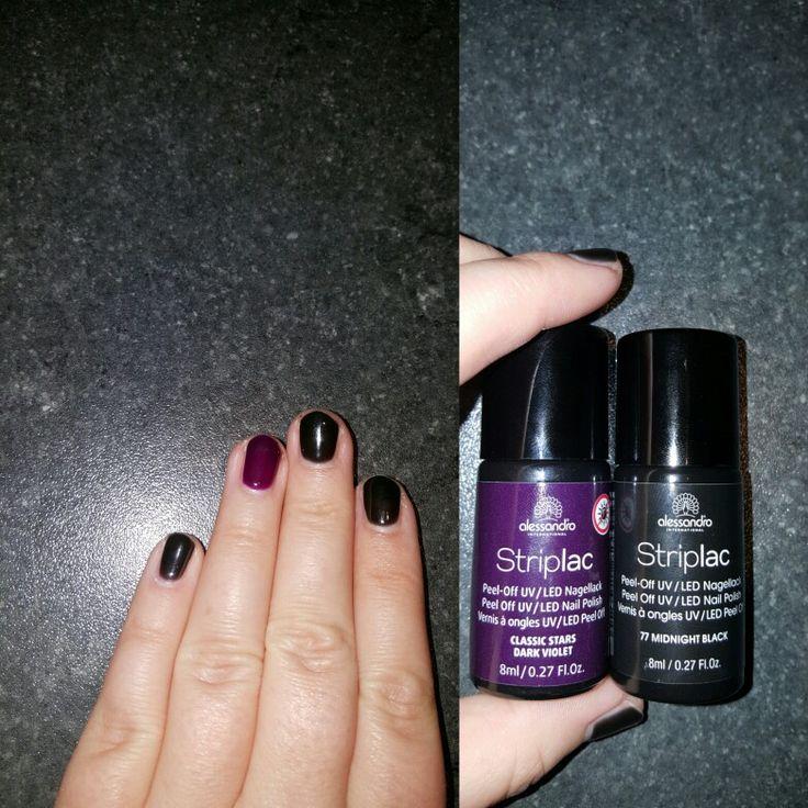 Striplac! Midnight Black and classic stars dark violet ☺