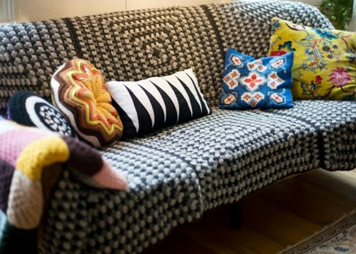 Crochet Blanket To Cover Couch Crochet Decorating