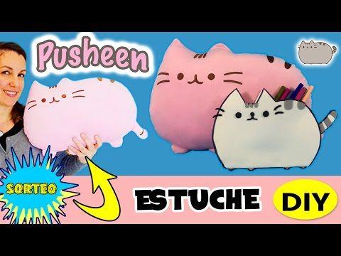 PUSHEEN THE CAT neceser o estuche DIY * SORTEO cojín PUSHEEN!! - YouTube