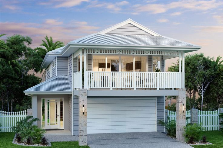Hamilton 266, Our Designs, Builders in Canberra - ACT | GJ Gardner Homes Deck at front of house becomes carport.