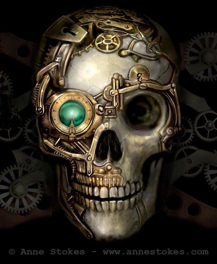 Steampunk » Anne Stokes - Steampunk Skull