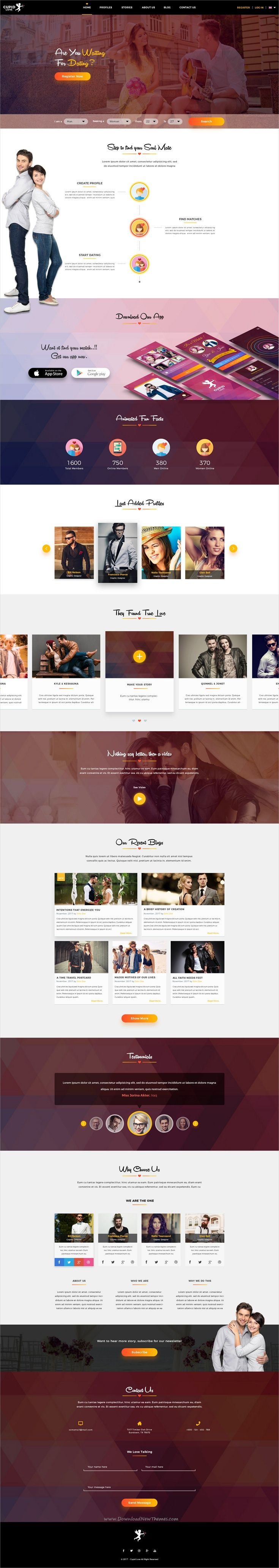 Cupid love is a magnificent #PSD template for #webdev modern #dating website with 16 organized PSD fiels download now➩ https://themeforest.net/item/cupid-love-dating-website-psd-template/19618805?ref=Datasata