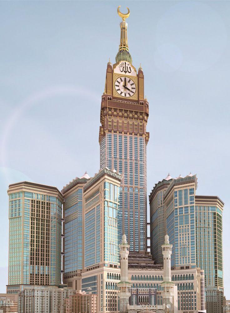 "DESCUBRE TU MUNDO: Arquitectura: megatorre ""Makkah Royal Clock Tower Hotel"" La Meca - Arabia Saudita"