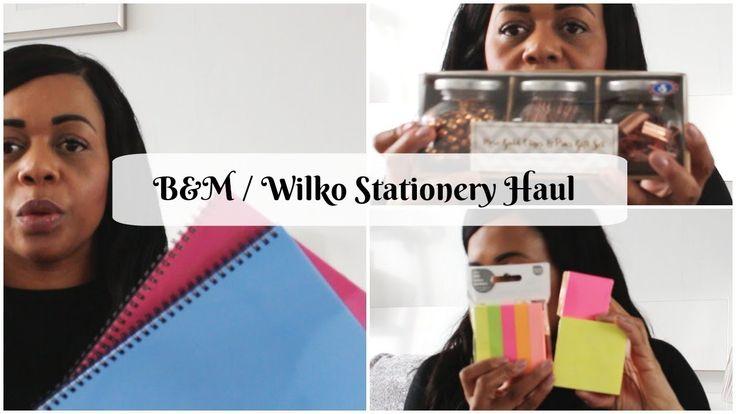 B&M / Wilko Stationery Haul 2018