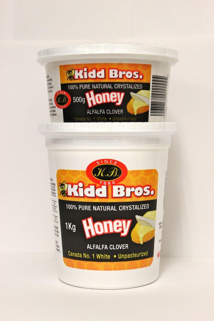 CRYSTALIZED TUBS OF HONEY!!! Western Sage and KB Honey (aka Kidd Bros), Creamed and Crystallized Honey Ingredients:  100% Pure Canada No. 1 White Natural Honey #honeytubs #classichoney #natural #raw #nongmo #gmofree #glutenfree #kosher #koshercheckcertified #cfiaapproved #honey #healthfood #bclocal #localproducts #WesternSage #kiddbros #kbhoney #wshoney #straightfromthefarm #farmfresh #miraclefood #remedies #beeproducts #homeofglacierhoney #glacierhoney