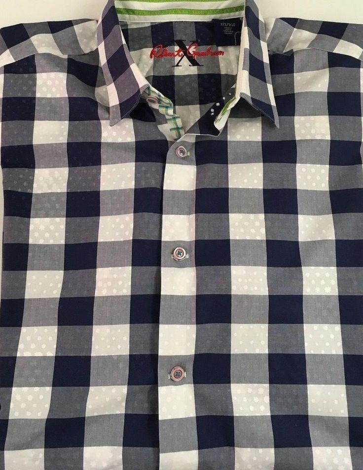 Robert Graham X Edition Men's Short Sleeve Button Down Shirt XLT Plaids & Checks #RobertGraham #ButtonFront