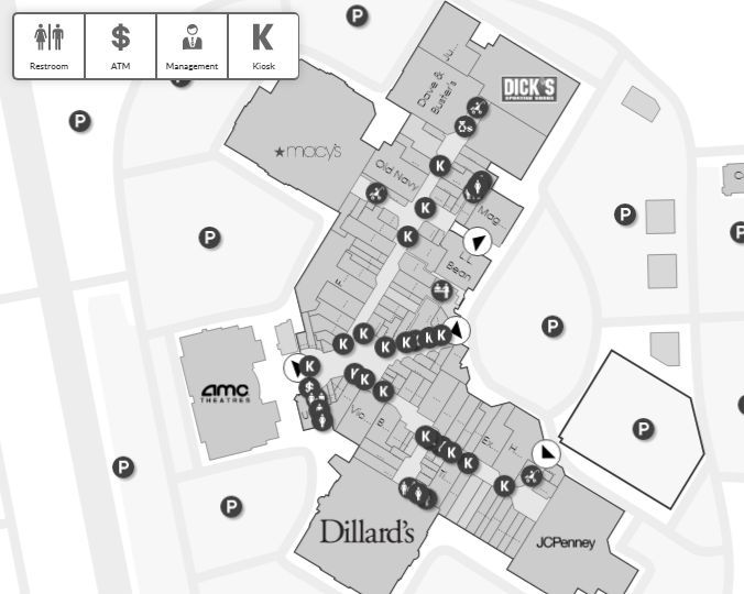 Lynnhaven Mall shopping plan | Mall maps in 2019 | Mall ...