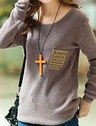 De cuello redondo de la Mujer suéter manga larga ... – MXN $ 324.50