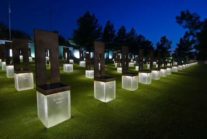 Oklahoma City Bombing Memorial,  Oklahoma.  Humbling