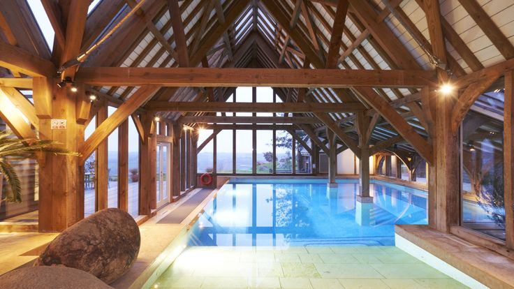 15 best oak roof trusses images on pinterest roof - Holiday homes with indoor swimming pool ...