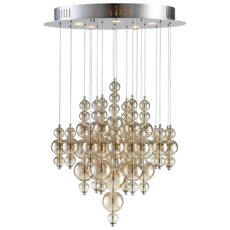 Bubbles Cash Pendant by Cyan. Iron and Glass with Smokey Brown finish. Available in Small, Medium or Large.