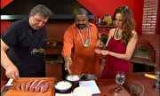 Programa Estrelas Entrevista c Marcos Bassi falando sobre churrasco
