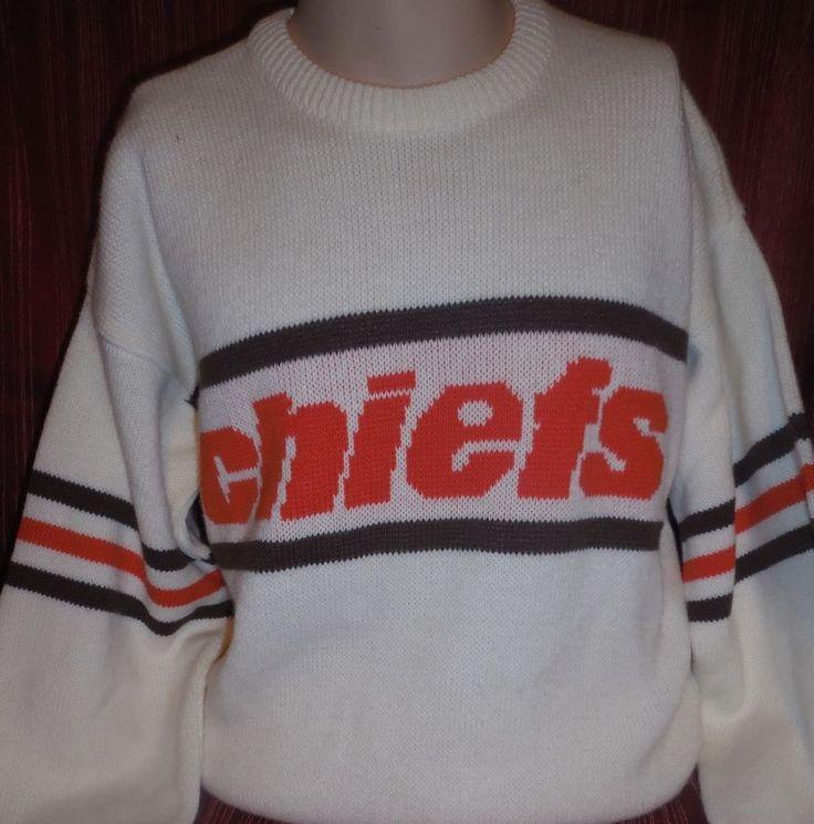 Vtg 80s Cliff Engle Kansas City Chiefs NFL Sweatshirt Sweater Football Shirt | eBay