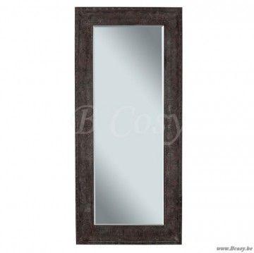 """J-Line Antiek bruine spiegel in antiek bruin metaal 85x190 <span style=""""font-size: 0.01pt;"""">Jline-by-Jolipa-58134-antieke-stijl-dekoratie-online-kopen-online</span>"""