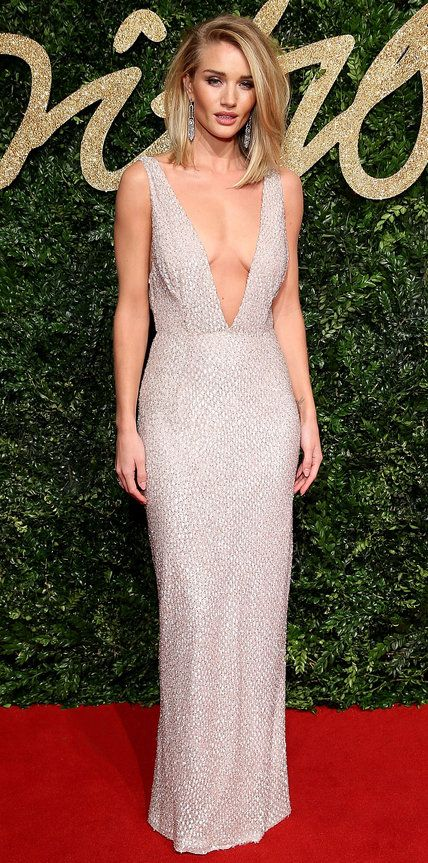 See All of the Best Looks from the 2015 British Fashion Awards Red Carpet - Rosie Huntington-Whiteley - from InStyle.com