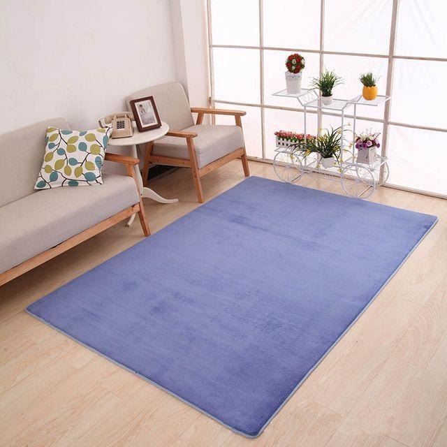 Best Offer $7.50, Buy Thicker Carpet Soft Living Room Mats Yoga mat Carpets Rectangle Bedroom Anti-slip Mats Water Absorption Foot Pad Vloerkleed