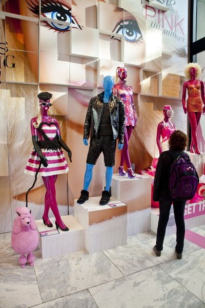 Students at FIT (New York) got the chance to channel their inner child while participating in Mattel's Barbie Play fashion contest. The challenge was to create fashions, interior design, jewelry, photos, films and visual displays for Mattel's iconic Barbie and Ken characters. Mattel chose three winners from each of the five categories.(vsmd, 2012)