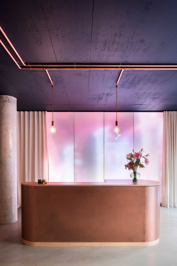 Interior design for luxury travel agency Designreisen in Munich, Germany. The store is a poetic space where customers find themselves a step closer to their dream holiday destination. Photo by Nick Frank