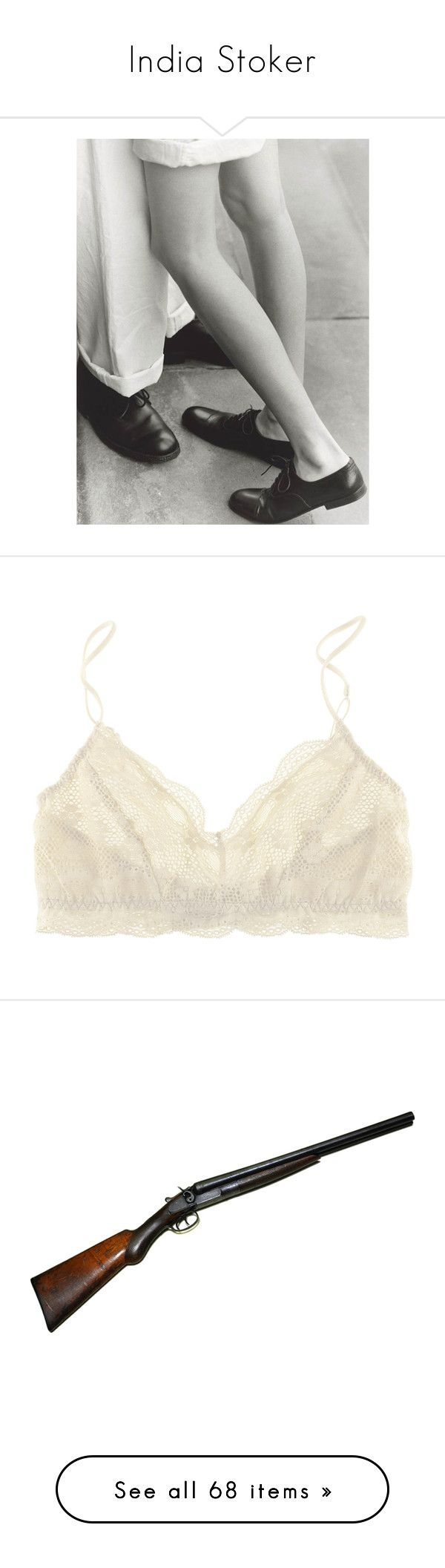 """""""India Stoker"""" by opheliaopia ❤ liked on Polyvore featuring backgrounds, photos, couples, people, pics, intimates, bras, underwear, lingerie and bra"""